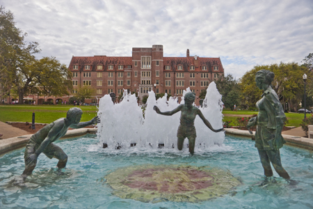 Campus Images Landis Green and Landis Fountain