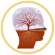 silhouette of human head showing an image of tree as a representation of the brain